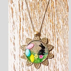 Easter Bunny Pendant Necklace